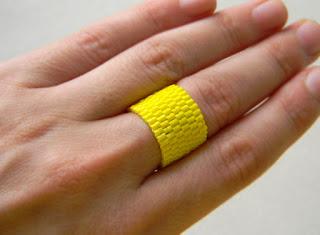 купить яркое желтое кольцо из бисера украшения из бисера интернет магазин