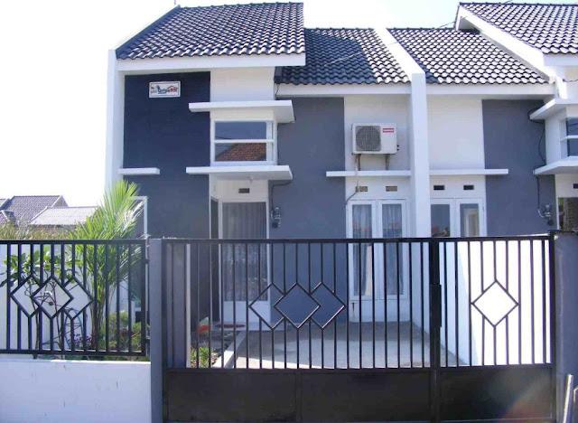 contoh warna cat tembok pagar rumah