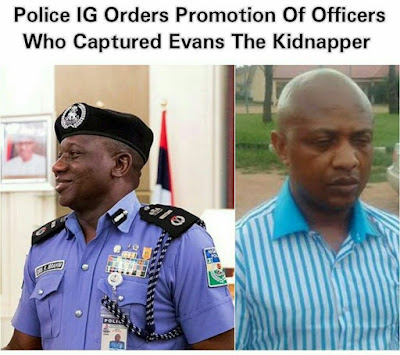 Police IG orders promotion of officers that tracked down notorious kidnapper, Evans