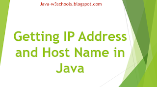 Getting IP Address and Host Name in Java