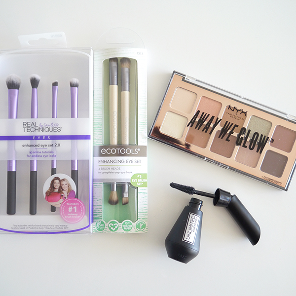 New eye makeup products at London Drugs including Real Techniques Enhanced Eye Set 2.0 makeup brushes, Eco Tools Enhanced Eye Duo makeup brushes, NYX Away We Glow Shadow Palette #LDBeauty