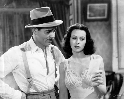 Clark Gable y Hedy Lamarr