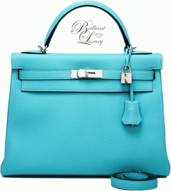Brilliant Luxury ♦ Hermès Blue Atoll Togo Kelly Bag