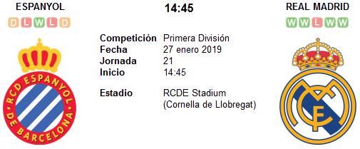 Espanyol vs Real Madrid en VIVO