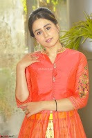 Simrat in Orange Anarkali Dress 10.JPG