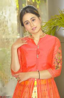 Simrat in Orange Anarkali Dress 10.JPG