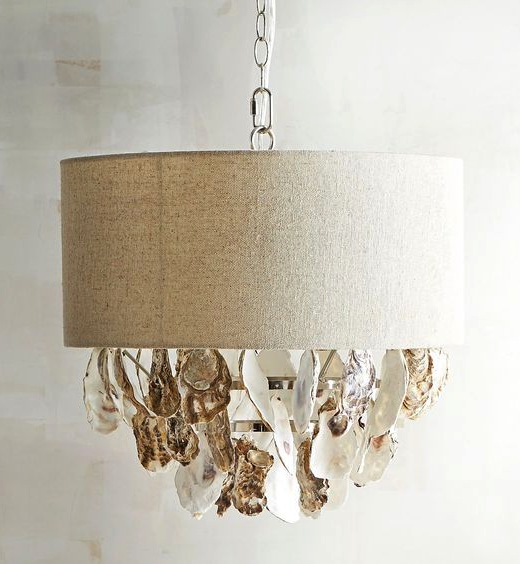 Oyster Shell Lamp Shade Hanging Pendant Light