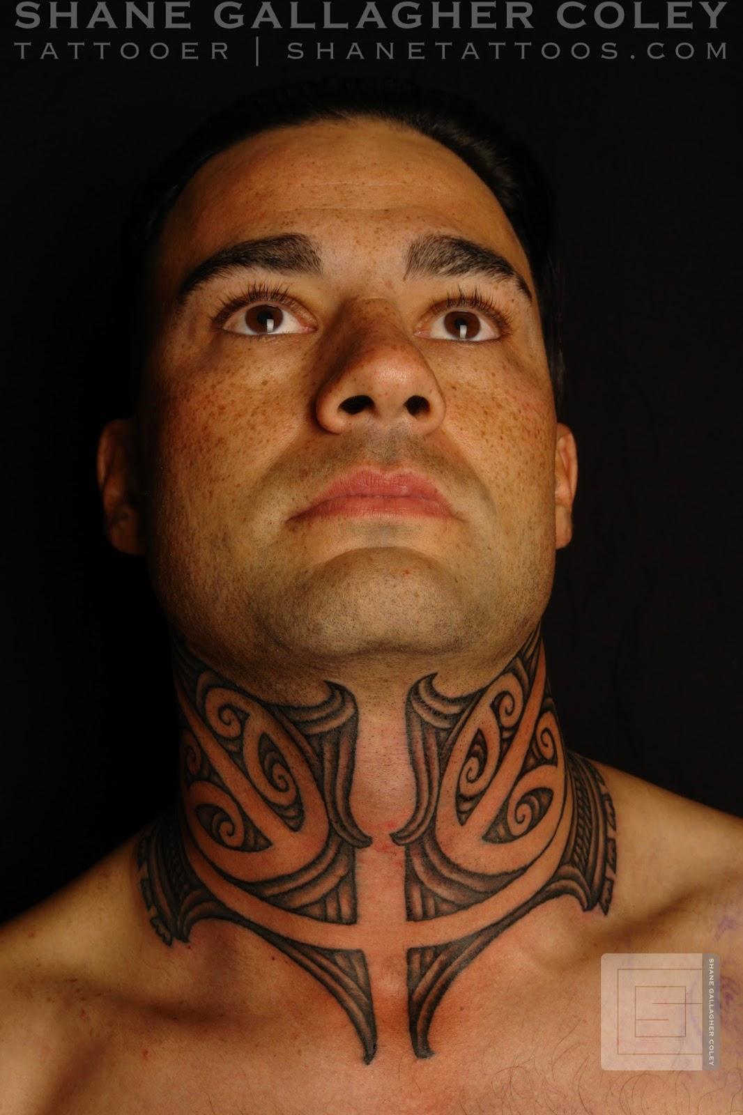 Maori Moko Tattoos: SHANE TATTOOS: Maori Neck Tattoo/Ta Moko