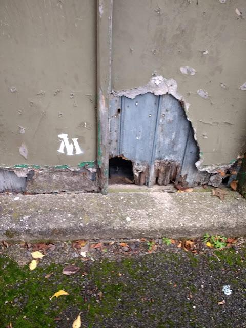 Streetart, Dilapidated, Cherry Hinton, High Street, Cambridge, Green Hut, Parish Hall
