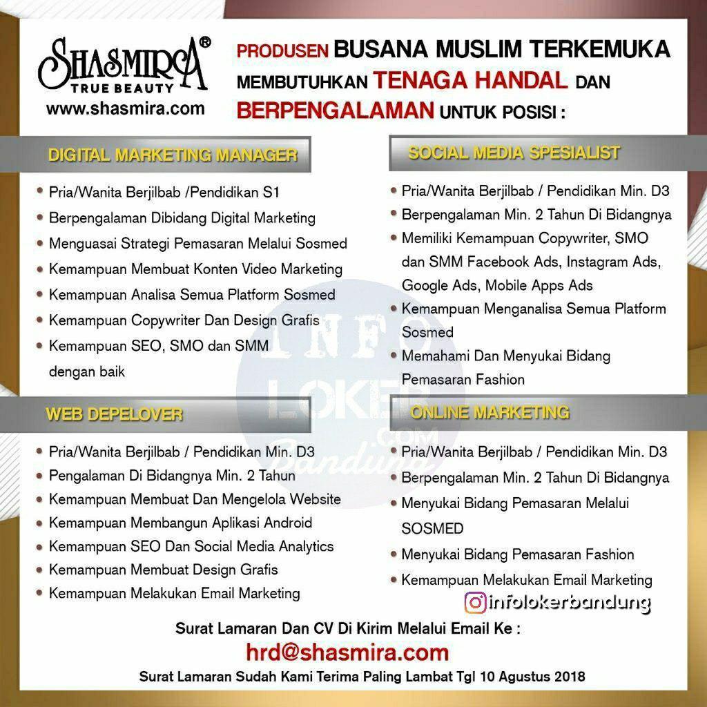 Lowongan Kerja Shasmira True Beauty Bandung Juli 2018
