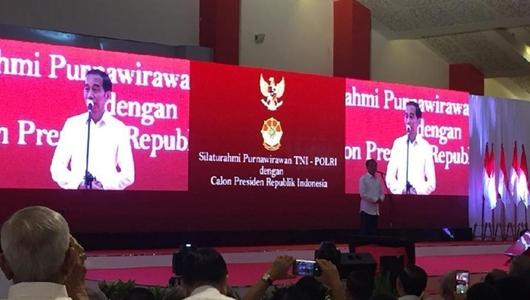 1.000 Purnawirawan TNI-Polri Deklarasi Dukung Jokowi
