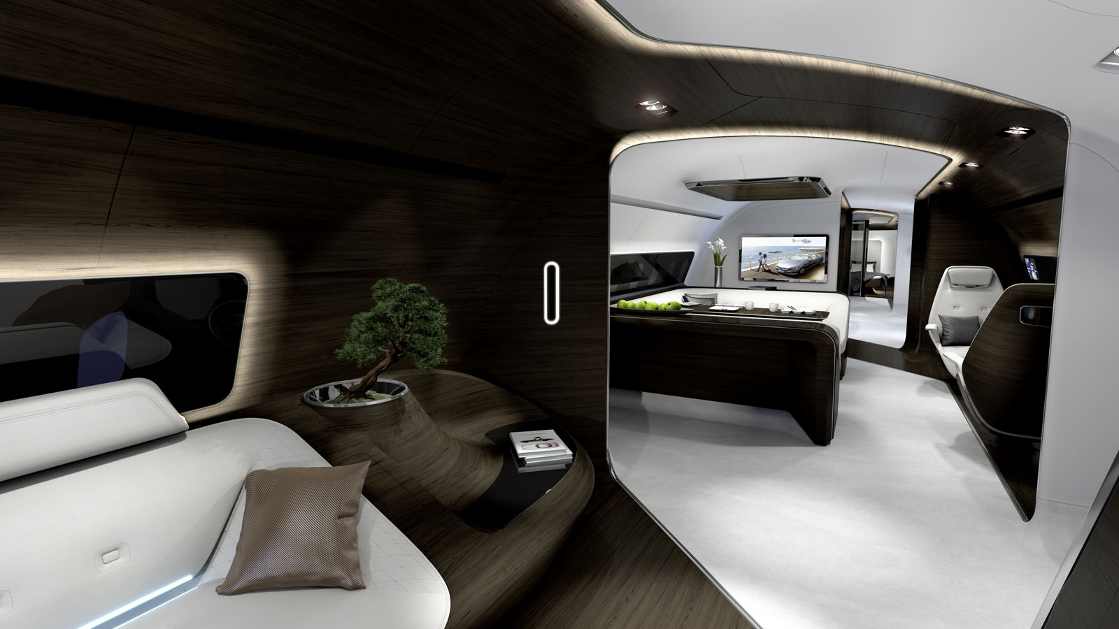 Mercedes ready to usher the wealthy from monaco out onto for Aircraft interior designs