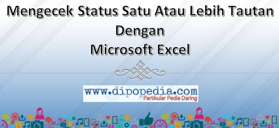 Gambar Posting Mengecek Status Satu Atau Lebih Tautan Dengan Microsoft Excel