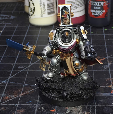 Grey Knight Brother Captain WIP front more base colors blocked in