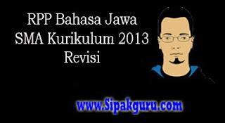 RPP Bahasa Jawa Revisi Kurikulum 2013 Terbaru