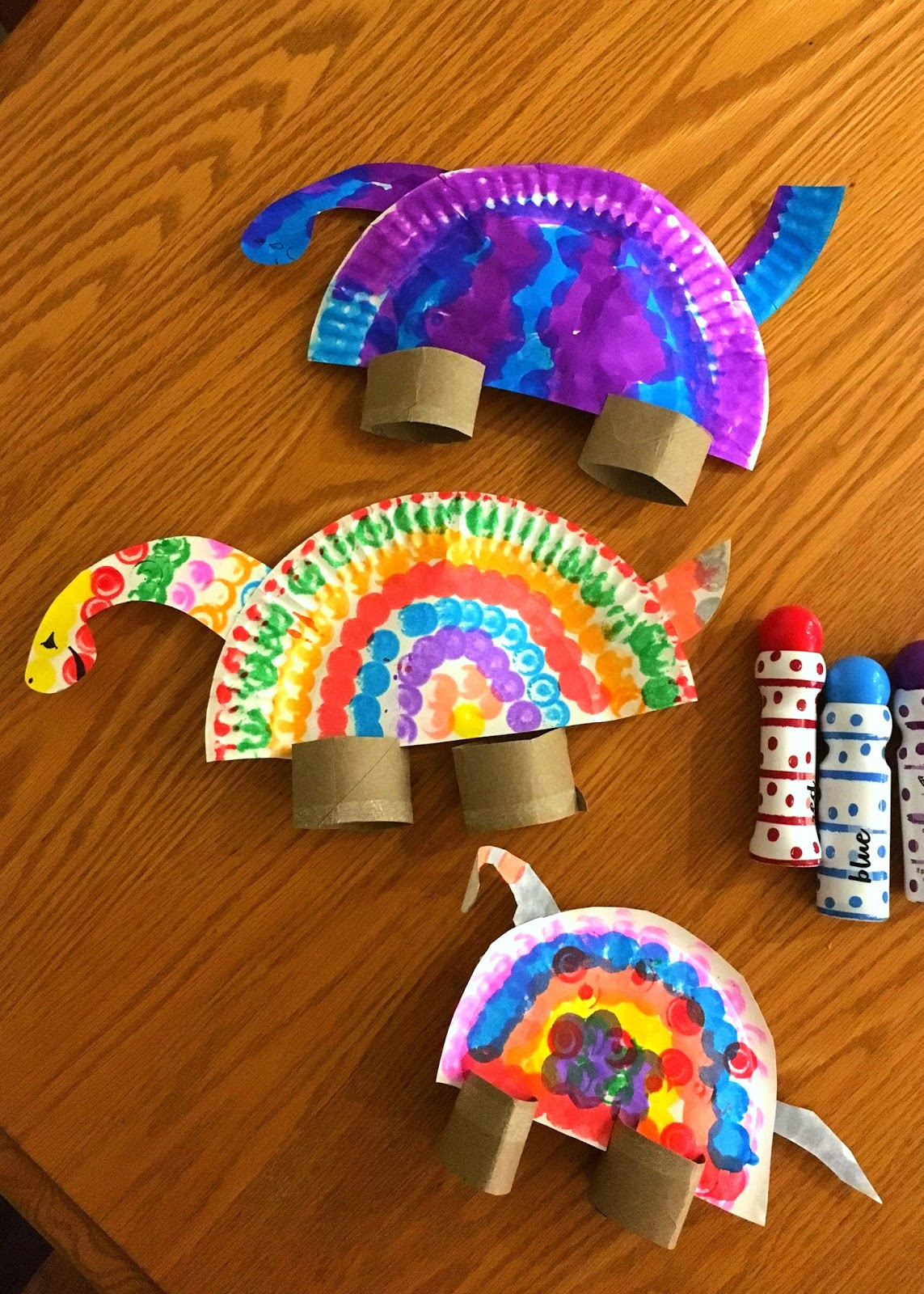 My son was especially proud of his dinosaur that he made. I was so impressed with his creativity! & Toddler Approved!: Colorful Paper Plate Dinosaurs for Kids