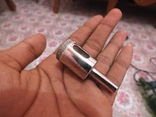 penampakan mata bor kaca ukuran 22mm