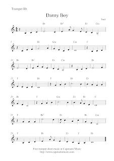 Danny Boy, trumpet sheet