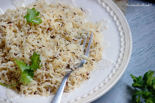 how to make Zeera Rice / cumin rice recipe and preparation with step by step pictures