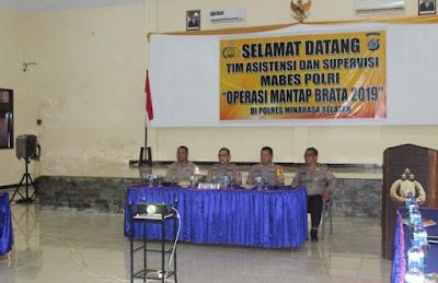 Tim Asistensi Mabes Polri Cek Pelaksanaan Pengamanan Pemilu Di Polres Minsel