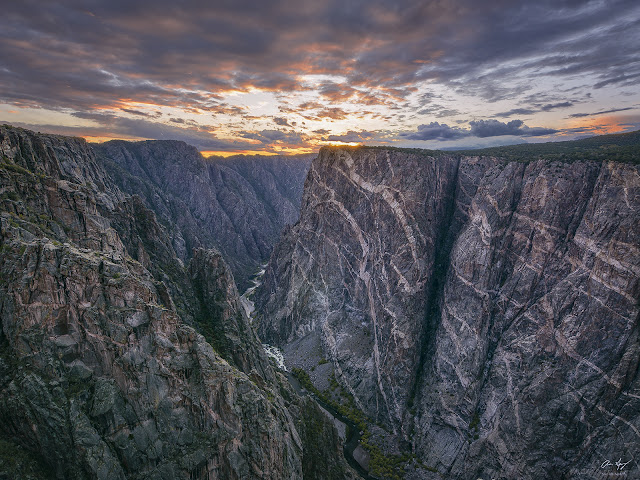 Painted Wall in the Black Canyon of the Gunnison sunset photography