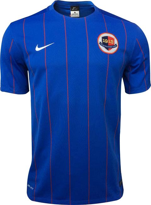 Nike apresenta novas camisas do Caen - Show de Camisas 5bc21ac9de755