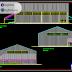 مخطط مشروع قاعة متعددة النشاطات هياكل معدنية كاملا اوتوكاد dwg