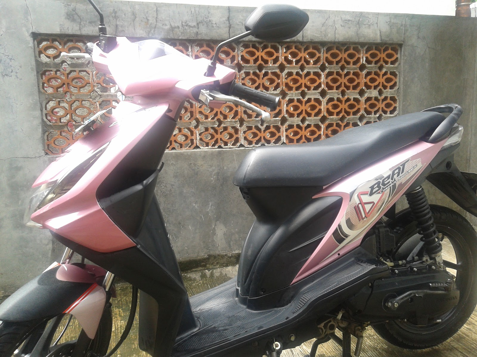 motor-motormu: di jual motor bekas honda beat cw 2009 pink.pink