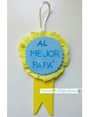 Medalla de goma eva para el dia del padre