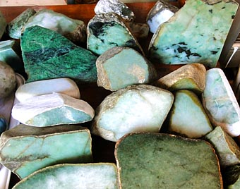Burmese jade for sale at the emporium