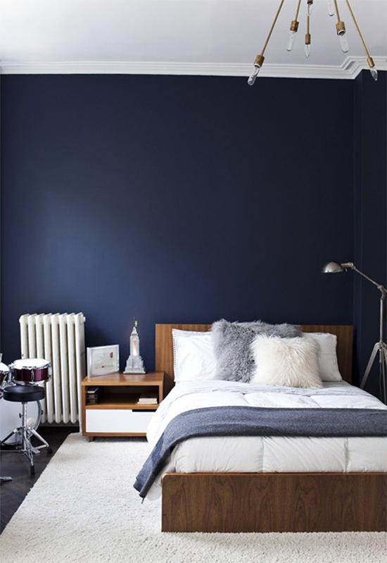 quarto de casal, quarto decorado, cabeceira, parede azul, a casa eh sua, acasaehsua, decor, home decor, home, interior