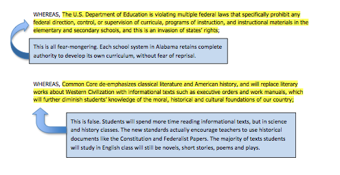 alnbctnetwork The Truth about the Common Core and Alabama
