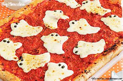 ideas halloween niños receta cocina pizza fantasmas blog mimuselina