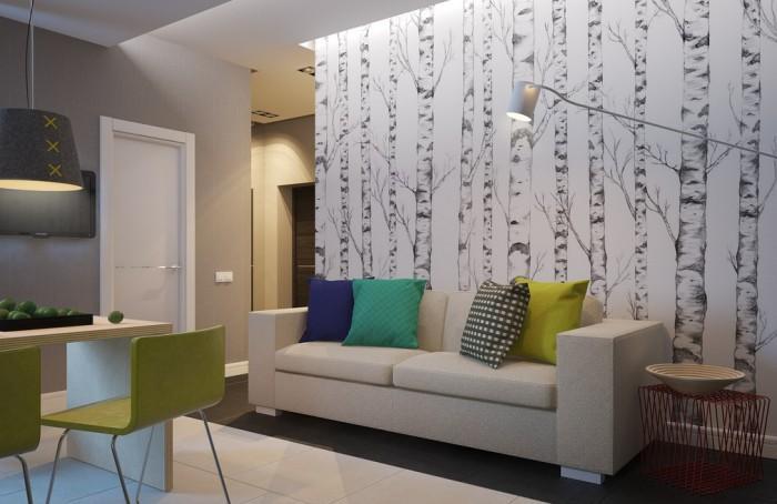Wohnzimmer farblich gestalten grün  Wohnzimmer Farblich Gestalten Grün - Ideen modernen ...