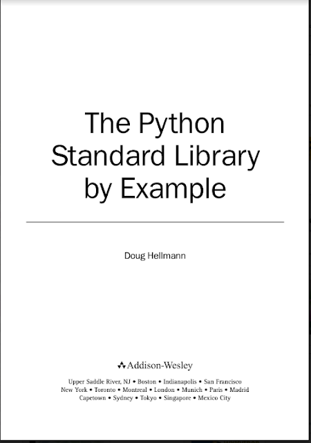 The Python Standard Library by Example Doug Hellmann