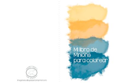 Libro de minions para colorear