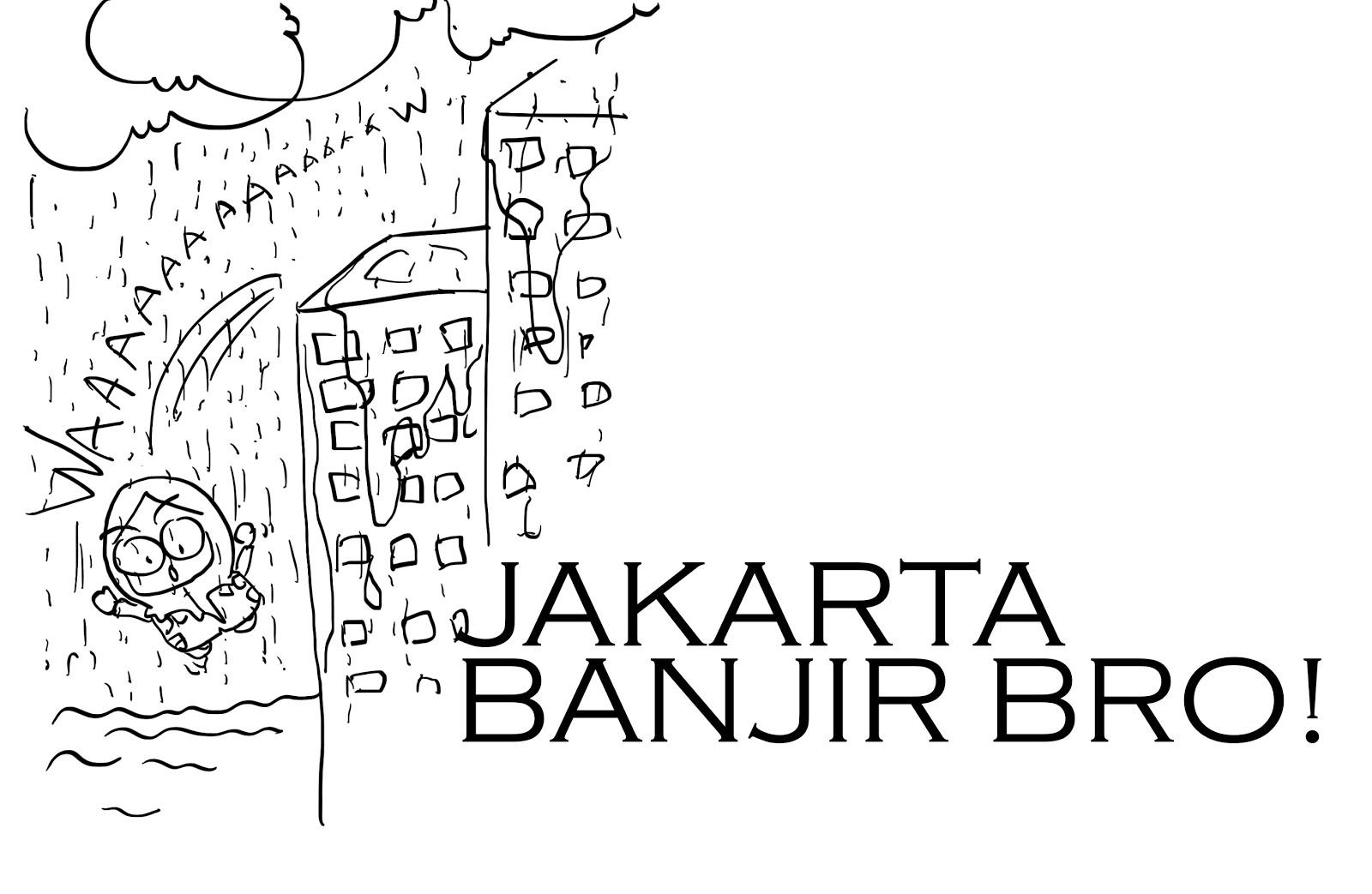 Gambar Kartun Banjir Jakarta Kumpulan Kartun