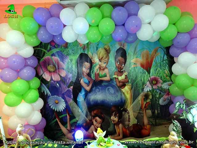 Mesa temática Tinker Bell (Sininho) - Festa de aniversário feminino