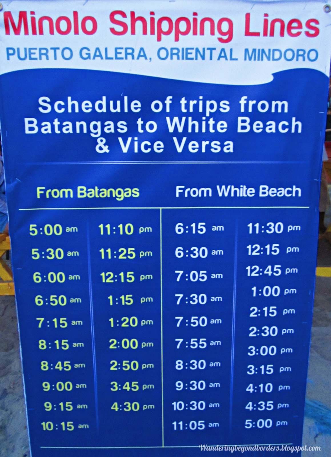 Wandering Beyond Borders Puerto Galera 24 Hours Of Bliss