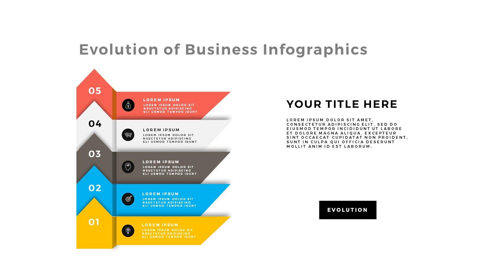 Evolution of business infographic powerpoint template evolution of business infographic free powerpoint template slide 4 toneelgroepblik Images