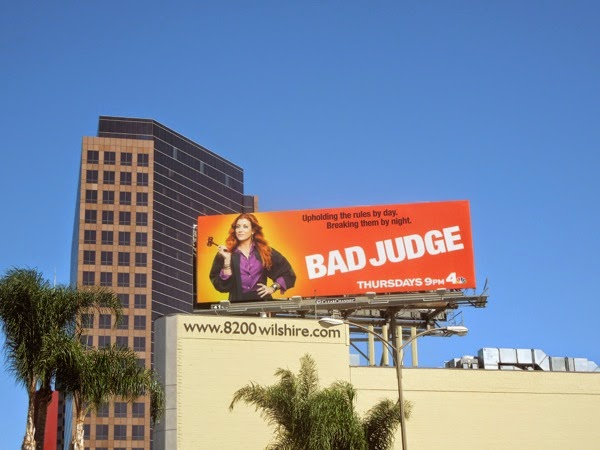 Bad Judge series premiere billboard