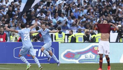 Lazio gana a la Roma por 2 a 0