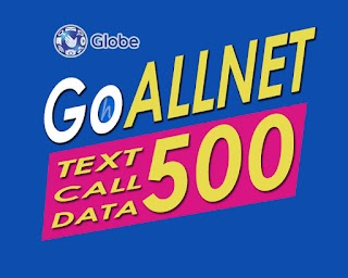 GOALLNET500 – Globe 30 Days Unli All-net Texts, 700 Mins Call + Data