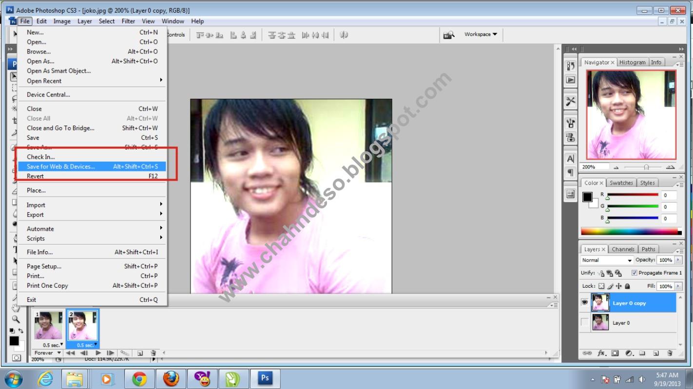 Difabel Indonesia Cara Membuat Dp Bbm Bergerak Dengan Photoshop