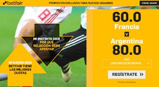 betfair supercuota victoria de Francia o Argentina 30 junio