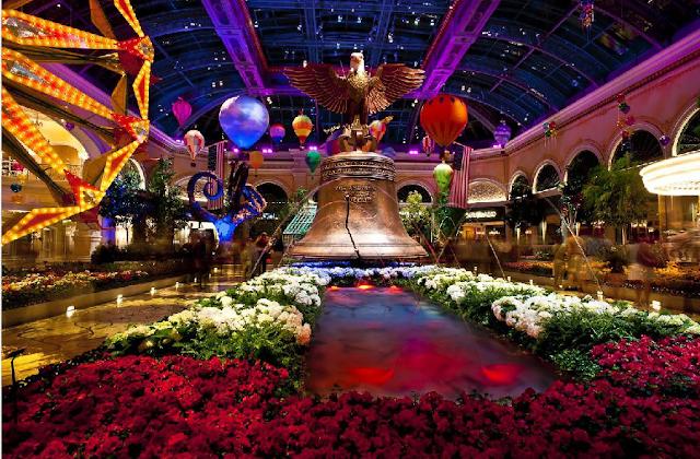 Jardim botânico e conservatório do Bellagio em Las Vegas