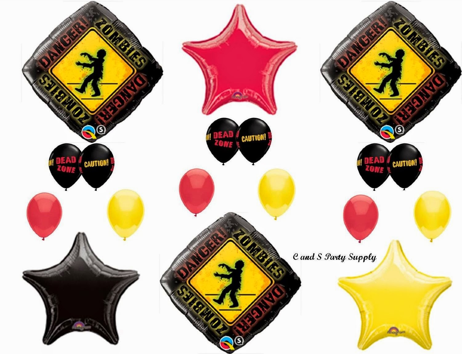 zombies the walking dead zone birthday party balloons - Zombie Party Supplies