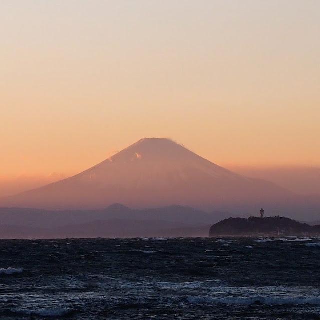 なぎさ橋珈琲 逗子店 富士山 江ノ島