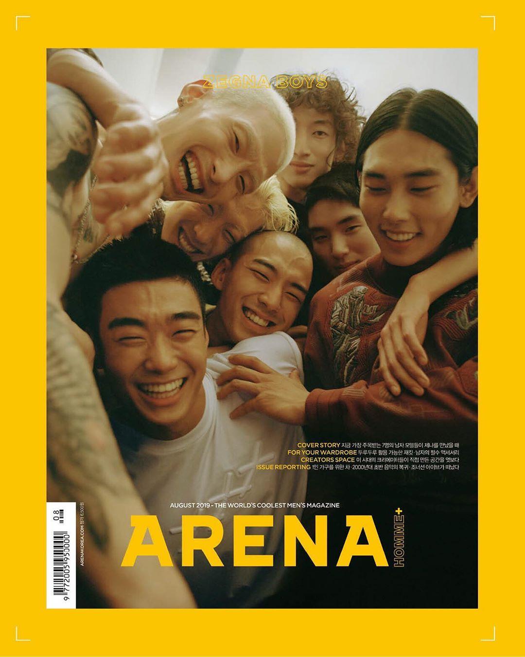 Arena Homme+ Korea Agosto 2019 por Hong Janghyun