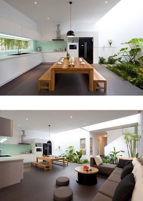 patio interior en casa